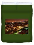 City Of Light Duvet Cover by Elena Elisseeva