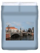 City Scenes From Amsterdam Duvet Cover