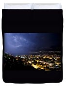 Cityscape At Night Duvet Cover