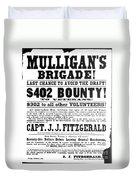 Civil War: Broadside, 1863 Duvet Cover