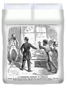 Civil War: Food Shortage Duvet Cover