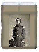 Civil War Union Commander Duvet Cover