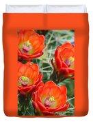 Claret-cup Cactus 2am-28736 Duvet Cover