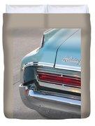 Classic Car Aqua Holiday Duvet Cover