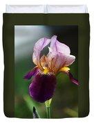 Classic Purple Two-tone Dutch Iris Duvet Cover