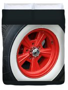 Classic White Wall Tire And Mag Duvet Cover