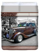 Classy Brown Ford Duvet Cover
