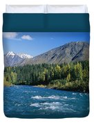 Clear Flowing Honolulu Creek And Fall Duvet Cover