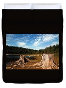 Clear Lake Oregon Duvet Cover