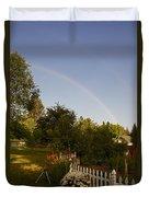 Clear Sky Rainbow Duvet Cover
