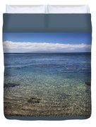 Clear Water And Coral Duvet Cover