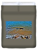Clear Waves  Duvet Cover