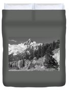 Clearing Storm On Grand Teton  Duvet Cover