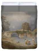 Clearing Up For Fine Weather Beddgelert North Wales 1867 Duvet Cover