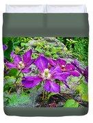 Clematis Abby Aldrich Rockefeller Garden Duvet Cover