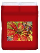 Clematis In Colored Pencil  Duvet Cover
