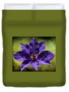 Clematis On Stone Duvet Cover