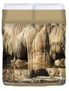 Cleopatra Terrace, Mammoth Hot Springs Duvet Cover