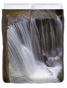 Cliff Falls In Maple Ridge Duvet Cover