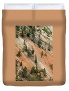 Cliff Side Grand Canyon Colors Vertical Duvet Cover