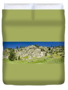 Cliff Side Panorama Duvet Cover