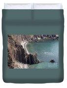 Cliffs At Grand Manan Island, Canada Duvet Cover