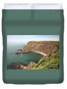 Cliffs On Grand Manan Island Duvet Cover