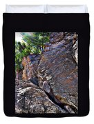 Climbing Rocks And Trees Duvet Cover