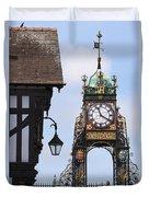 Clock In Chester Duvet Cover
