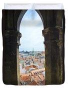 Clock Tower View - Prague Duvet Cover