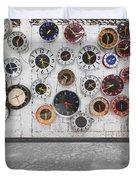 Clocks On The Wall Duvet Cover