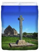 Cloncra Church, Inishowen Peninsula Duvet Cover