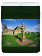 Clonmacnoise, Co Offaly, Ireland High Duvet Cover