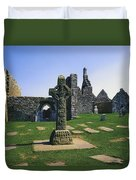 Clonmacnoise, Co Offaly, Ireland, West Duvet Cover