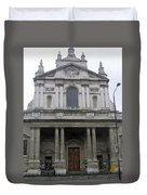 Close Up Of A Classical Architecture Of A Building In London Duvet Cover