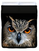 Close Up Of An African Eagle Owl Duvet Cover