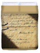 Close-up Of Emancipation Proclamation Duvet Cover