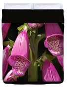 Close Up Of Foxglove Digitalis Flowers Duvet Cover