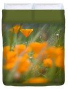 Close Up Of Orange Poppy Flowers Duvet Cover