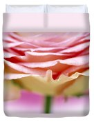 Close Up Of Rose Showing Petal Detail Duvet Cover