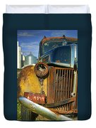 Close Up Of Rusty Truck Duvet Cover