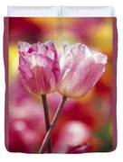 Close-up Of Tulips Duvet Cover