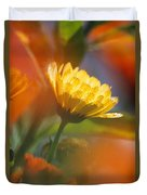 Close-up Of Wildflower Duvet Cover