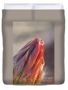 Close Up On Cactus Flower Bud Duvet Cover