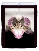 Close Up Shoot Of A Beautiful Orchid Blossom Duvet Cover