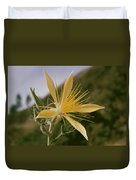 Close-up View Of A Blazing Star Duvet Cover