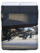 Close-up View Of The M230 Chain Gun Duvet Cover