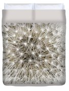 Close View Of A Dandelion Seed Head Duvet Cover