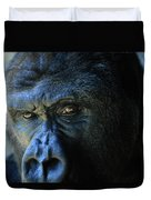 Close View Of A Gorilla Gorilla Gorilla Duvet Cover