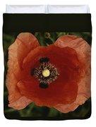 Close View Of A Poppy Duvet Cover